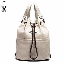 Лидер продаж корейский стиль холст женская сумка модные повседневные сумки Дизайнер Высокое качество большой Ёмкость рюкзак веревка пряжки