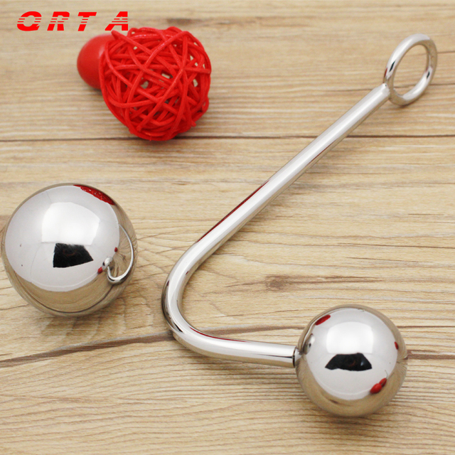 Top Quality Stainless Steel Anal Hook with Ball,Anal Plug,Butt Plug,Anal Sex Toys,Metal Anal Hook,Adult Sex Toys.hollow ball.
