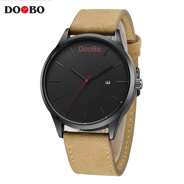 2017 DOOBO Fashion Casual Mens Watches Top Brand Luxury Leather Business Quartz Watch Men Wristwatch Relogio Masculino mens watches top brand luxury quartz watch doobo fashion casual business watch male wristwatches quartz watch relogio masculino