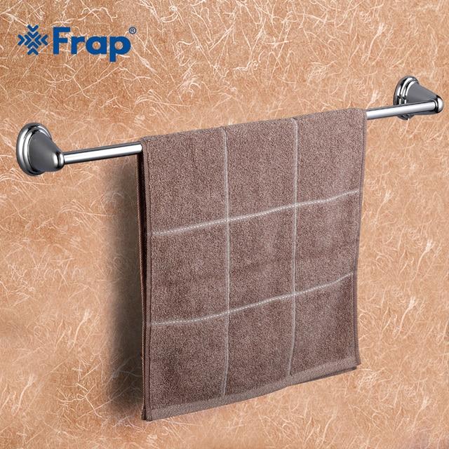 frap 1set high quality wall mounted 60cm single towel bars bathroom accessories towel holder hooks restroom - Bathroom Accessories Towel Bars
