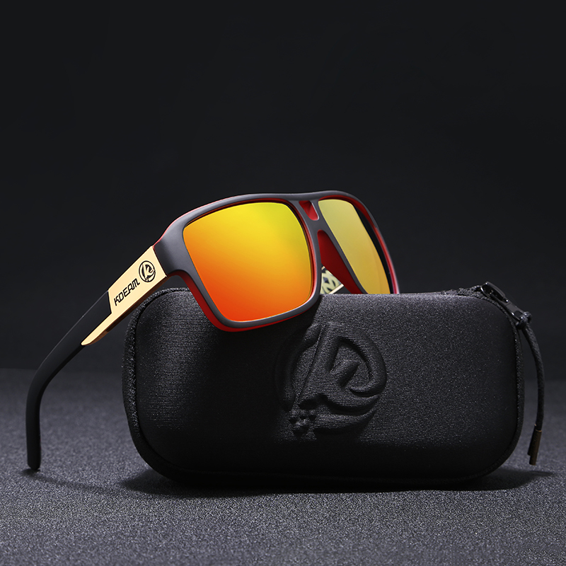 11f03586dfa KDEAM Polaroid Goggles Men Sport eyewear With Hard case Square Sunglasses  women Brand Driving Polarized Glasses Outdoor KD520