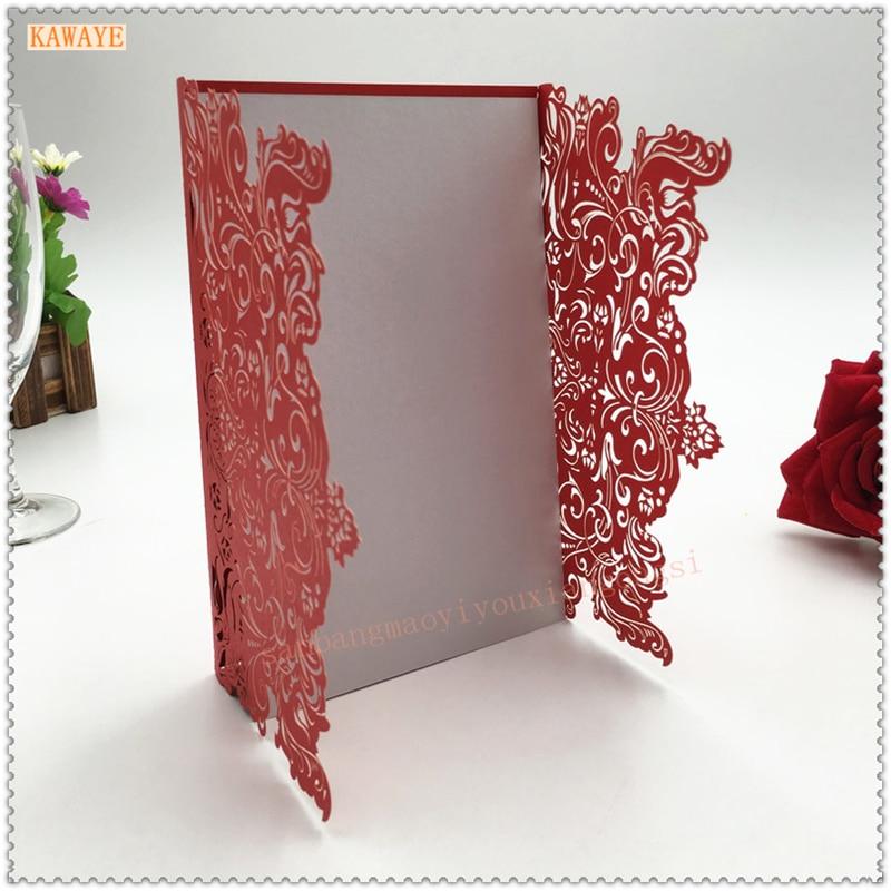 ad3c5070d8c 3D Handmade Laser Cutting Elegant Lace Invitations 3D Card Postcards  Envelopes Party Supplies Wedding Decorations 10pcs   5ZH03
