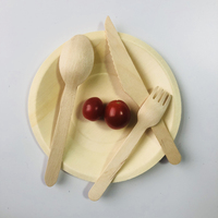 Environmentally Friendly Many Types Wooden Cutlery Disposable Mini Spoon Fork Knife Wholesale