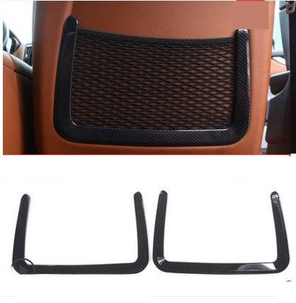 En Fiber De carbone Style ABS En Plastique Arrière de Voiture Rangée Arrière Siège Net sac Cadre Trim Fit Pour Maserati Ghibli Pour Levante De Voiture Accessoires