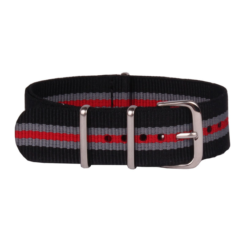 18 mm Watchbands Men Ladies MultiColor Black Red Nato Nylon Army Military Sports Watches Straps Wristwatch Band Buckle 18mm