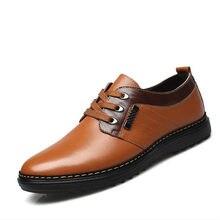0e1195681 2018 брендовая мужская обувь, модная обувь из искусственной кожи, мужская  обувь, английский стиль, Осень-зима, повседневная мужс.
