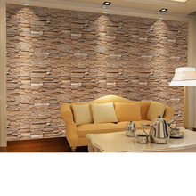 Stone Brick wall  Wallpaper Roll papel de parede 3D Living Room Background Wall Decor Art Wall Paper ST-1031