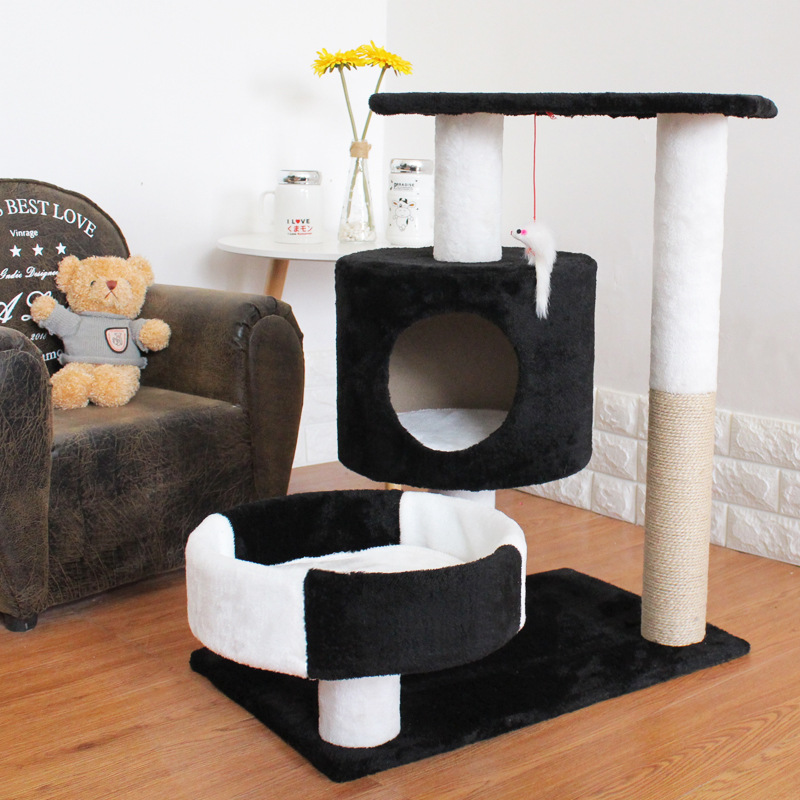 121 19 25 De Descuento Super Grande 3 Gatos Usando Cama De Gato Casa Fuerte Estructura De Suelo De Carga Muebles De Gato Divertidos Rascadores De
