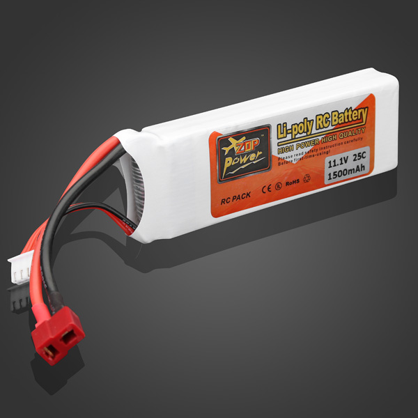 High Quality ZOP Power 11.1V 1500mAh 25C Lipo Battery T Plug high quality zop power 11 1v 1500mah 25c lipo battery t plug