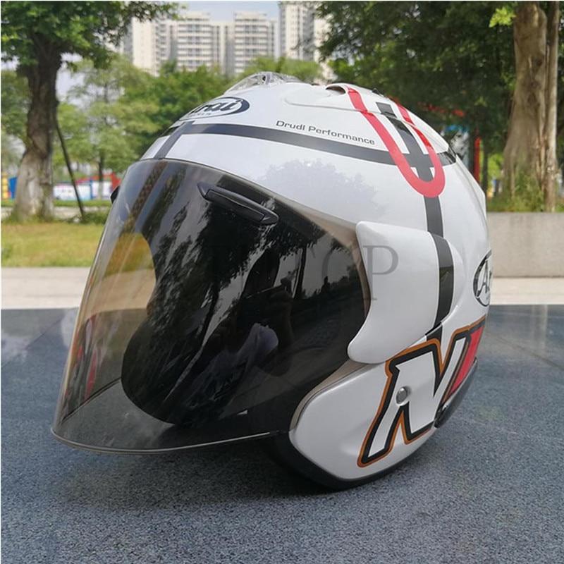 Здесь продается  2017 ARAI Dual Use Skull Motorcycle Helmet Capacete Casco Novelty Retro Casque Motorbike Half Face Helmet free shipping  Автомобили и Мотоциклы