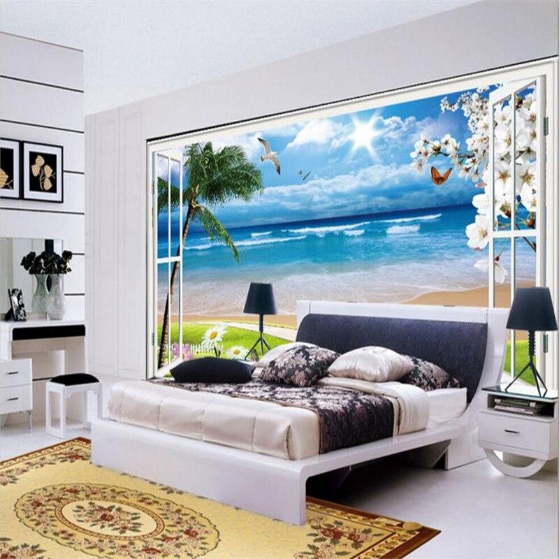Online get cheap photo hut alibaba group for Beach wall mural cheap