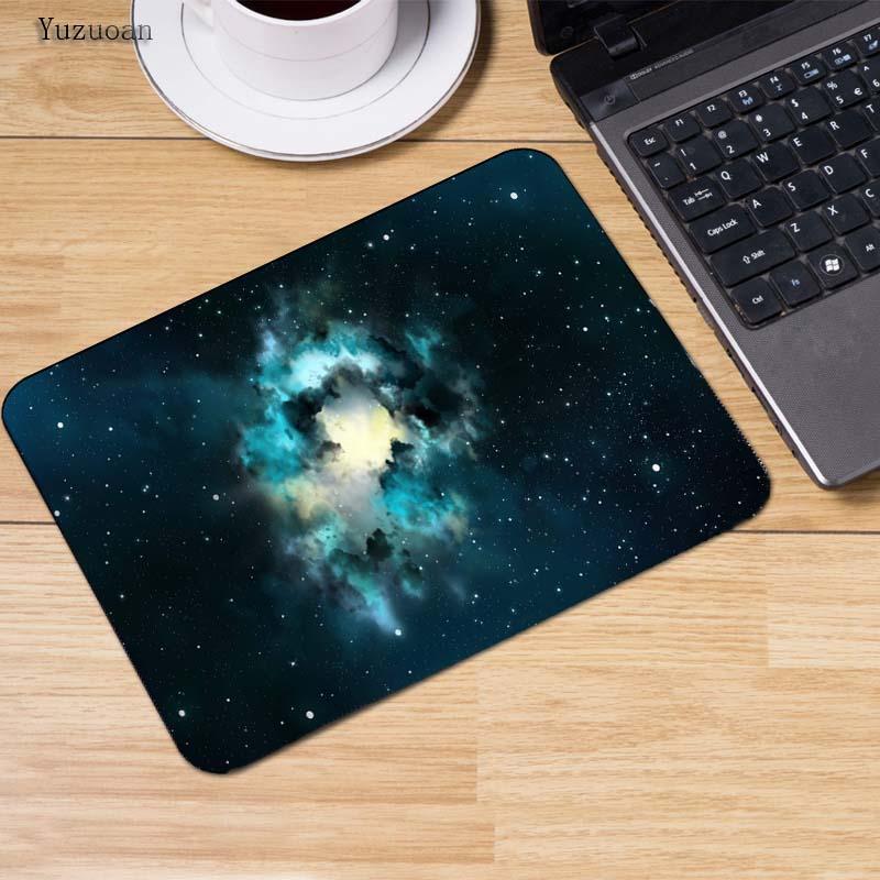 Yuzuoan Moon Space Sky Beauty Anti-Slip Mouse Pad 180x220x2mm 250x290x2mm mat Cool Design Computer Anti-skid Table Mat Game pad