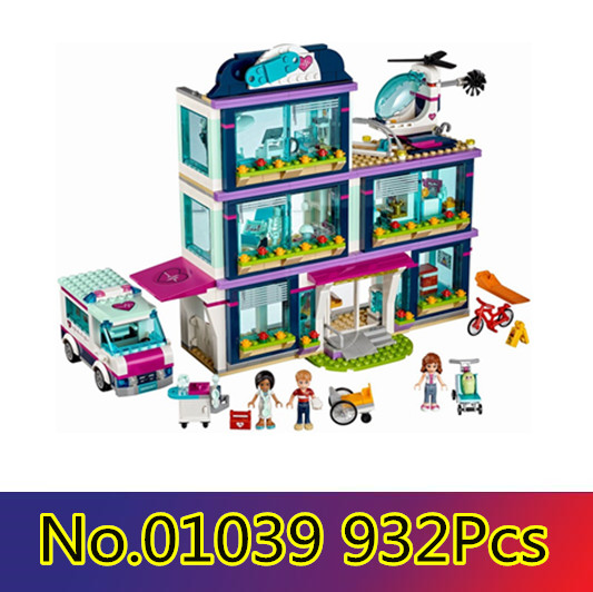CX 01039 932Pcs Model building kits Compatible with Lego girls friends 41318 Heart Lake Love Hospital 3D Bricks figure toys building bricks girls club 932pcs 01039 heartlake love hospital kids bricks toy for girls 41318