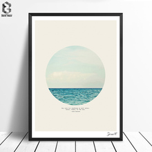 Nordic Salt Water Cure Print and Poster Serene Wall art Sea Canvas Painting Picture for Living Room Scandinavian Home Decor