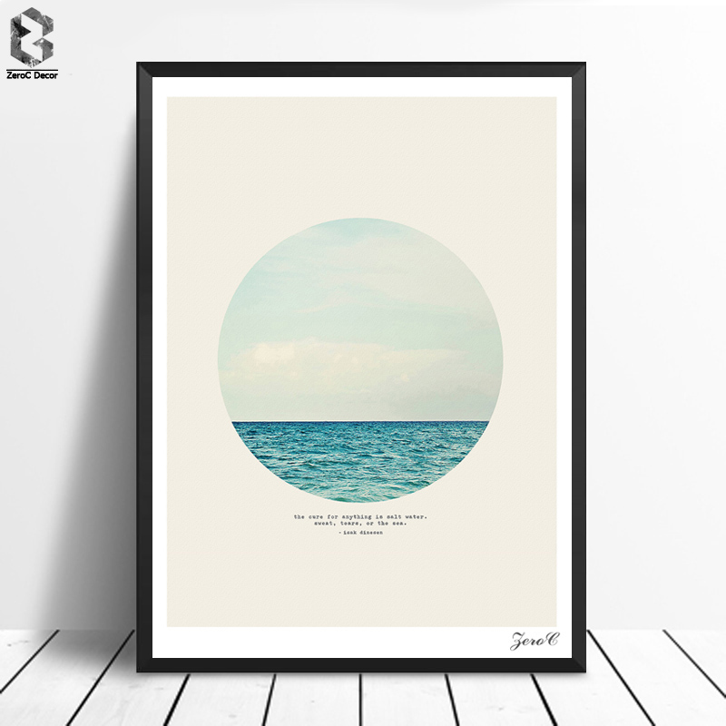 Nordic Salt Water Cure Print and Poster Serene Wall art Sea Canvas Painting Picture for Living Room Scandinavian Home Decor image