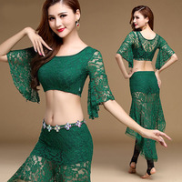 Belly Dancing Clothes Bellydance Indian Clothing Sexy Lace short Sleeves Eastern Oriental Dance Top Shirt Costumes for Women