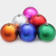 6pcs/lot Christmas Balls 10cm Ornament Xmas Gift Decorations For Home Enfeite De Nata