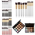 15 Colors Contour Face Cream Makeup Concealer Palette 10pcs Cosmetic Makeup Brushes Set Makeup Cosmetics Foundation Brush Tool