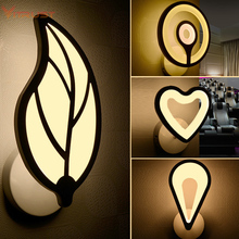 Modern Simple LED Wall Light Acrylic Material sconce For font b Home b font Bedroom Bathroom