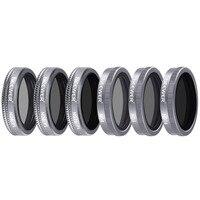 DJI Mavic 2 줌 용 Neewer 6 Pieces 렌즈 필터 셔터 필터 키트  다중 코팅 ND4 ND8 ND16 ND4/PL ND8/PL ND16/PLl 포함