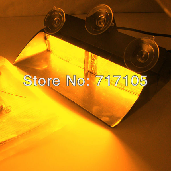 Universal Type 8/8(16 LED) Emergency Strobe Amber Light (Windshield Light) S2 Federal Signal warning LED lights - guanghuang Auto bloc store