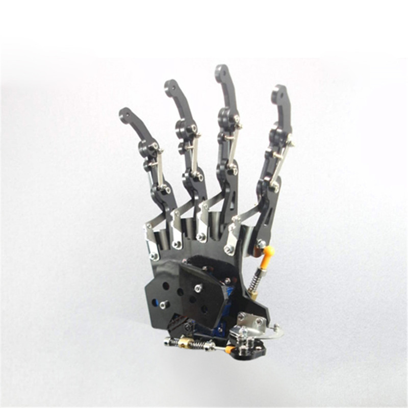 New DIY 5DOF Robot Five Fingers Metal Mechanical Paw Left and Right Hand Funny Toys Gift цены