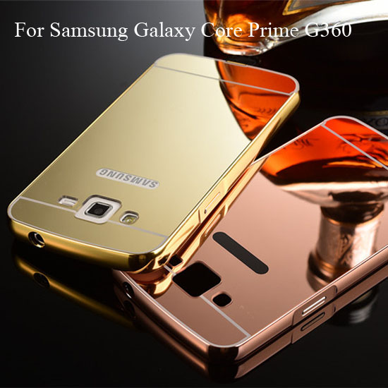 new concept 7990f 23768 US $4.65 |G360 Mirror Case For Samsung Galaxy Core Prime G360 Luxury  Aluminum Metal Frame Ultra Thin Slim Acrylic Hard Phone Back Cover on ...