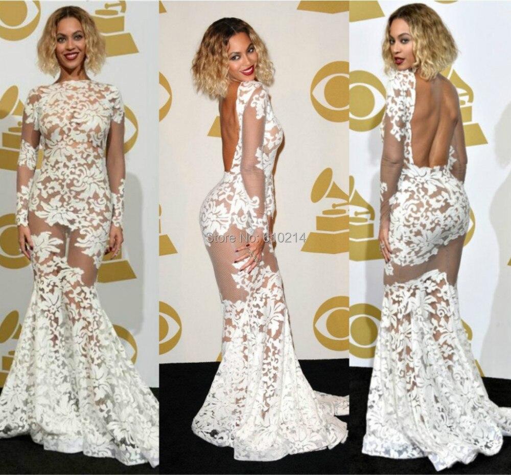 Celebity Fashion Mermaid Red Carpet Evening Gowns Elegant Beyonce ...