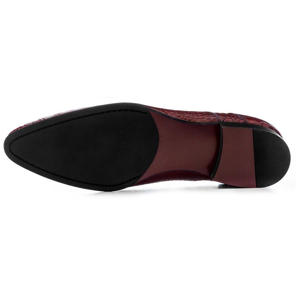 Puntiagudo marrón Zapatos Serpentina Del Dedo Negro Tamaño Eur45 Negocios Gran De Vestir Genuino Boda Cuero Tan brown Black Pie WXPpqYx