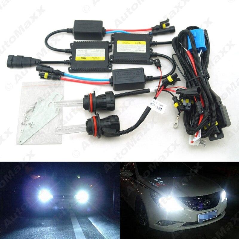 35W AC Car Headlight 9004 9007 Xenon Bulb Hi/Lo Beam Bi-Xenon Bulb Light Digital Slim Ballast HID Kit #J-4479 car headlight hid xenon kit slim ballast 12v 35w dc h4 3 9004 3 9007 hi lo 9012 5012 h13 bi xenon hi lo