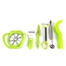 6pcs/set stainless steel and ABS fruit peeler slicer carved vegetable garnish tools kitchen gadgets knife carve garnishes