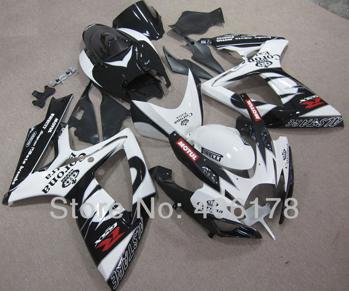 Hot Sales,Aftermarket Body Kit For Suzuki GSX-R 600 750 2006-2007 Corona Extra Race Motorcycle Fairings set (Injection molding) aftermarket free shipping motorcycle parts eliminator tidy tail for 2006 2007 2008 fz6 fazer 2007 2008b lack