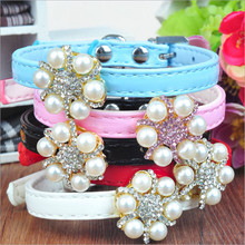 Luxury Pearl Embellished Leather Collar