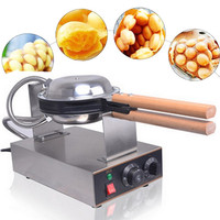 Electric Commercial Eggettes Waffle Maker Hong Kong Egg Bubble Waffle Maker Iron Eggettes Baker Machine Round