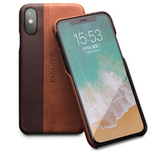 QIALINO Genuine Leather Case for iPhone X