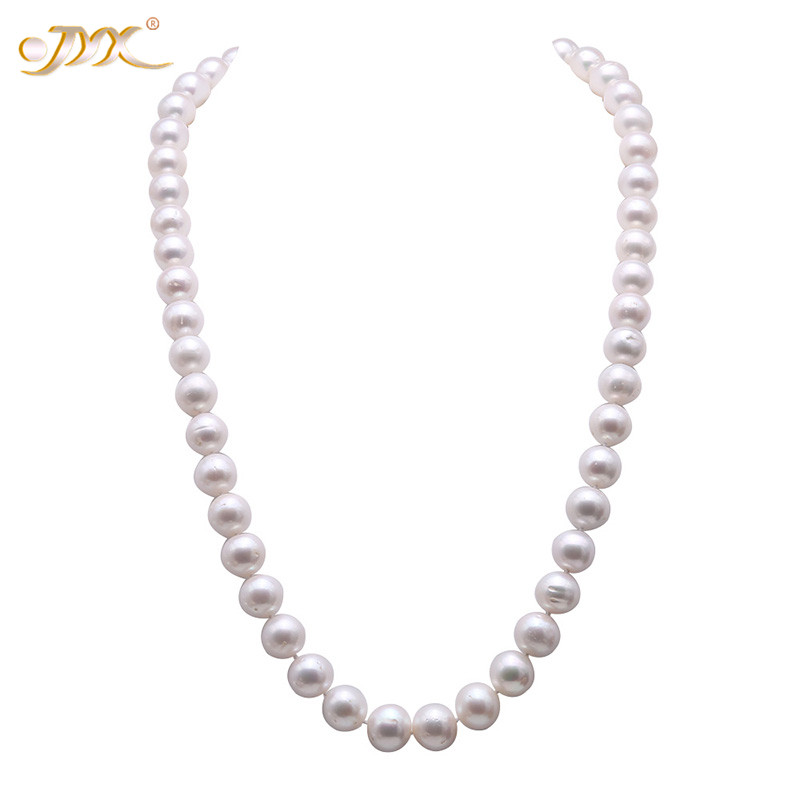 JYX 2019 new Pearl Necklace 12.5-14mm White Round Freshwater Cultured Pearl Necklace Women Bride Long Sweater Necklace 27JYX 2019 new Pearl Necklace 12.5-14mm White Round Freshwater Cultured Pearl Necklace Women Bride Long Sweater Necklace 27