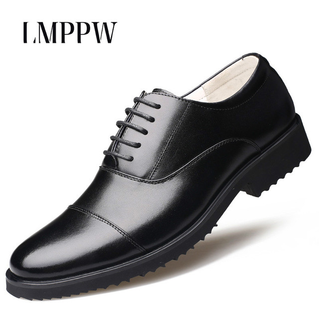 Luxury Brand Men Flats Leather Shoes Black Formal Wear Business Dress Men s  Shoes Pointed Toe Lace-up Oxford Shoes Wedding Party 8bca1220f013