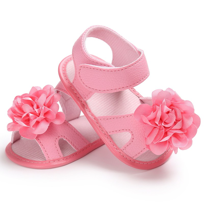 Baby Girls Flower Pre-walkers Crib Princess Bebe First Walkers Infant Toddler Soft Soled Newborn Shoes