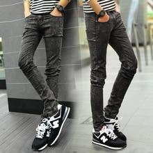 Neue 2017 Mode Herren Skinny jeans lager größe Stretch denim hosen männer Beiläufige Dünne Marke Hosen Mittlere Taille Der Langen Hose Männer Z928