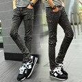 Novo 2017 Moda Mens jeans Skinny tamanho lager denim Stretch calças homens Casuais Calças Meados de Cintura Calças Compridas Homens Marca Fino Z928