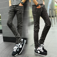 New 2015 Fashion Mens Skinny Jeans Lager Size Stretch Denim Pants Men Casual Slim Brand Pants