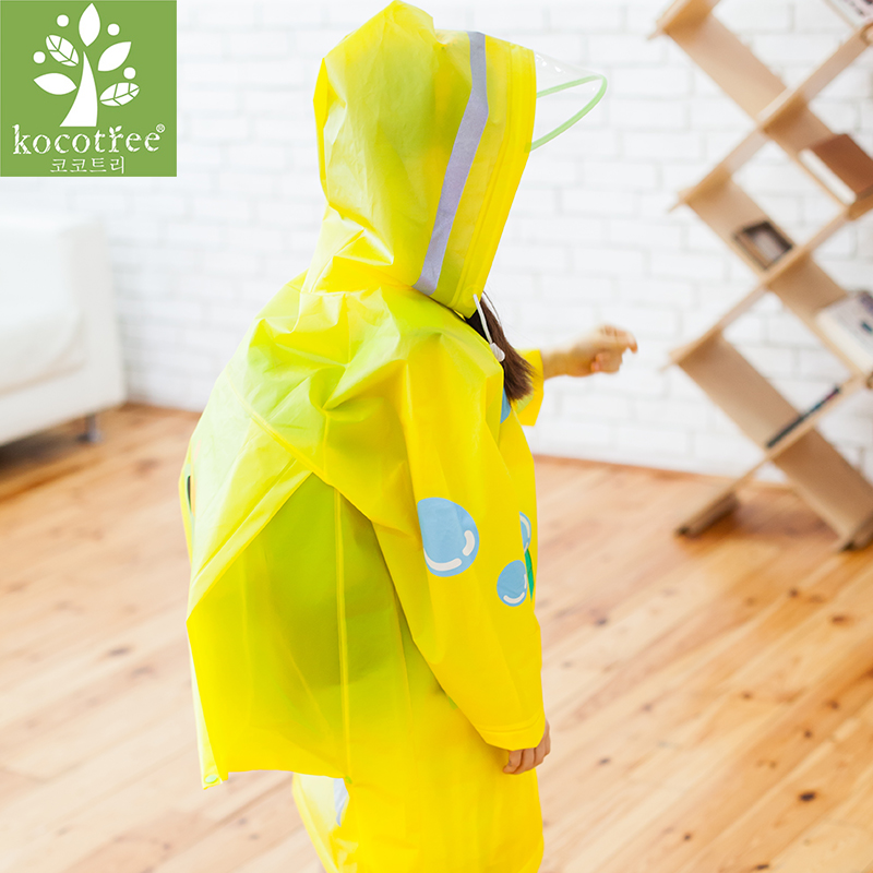 Image 2 - Students Raincoat With School Bags Cool Children RainCoat Kids rain pocket Jacket Waterproof Rain Coat Suit Children Raincoat-in Raincoats from Home & Garden