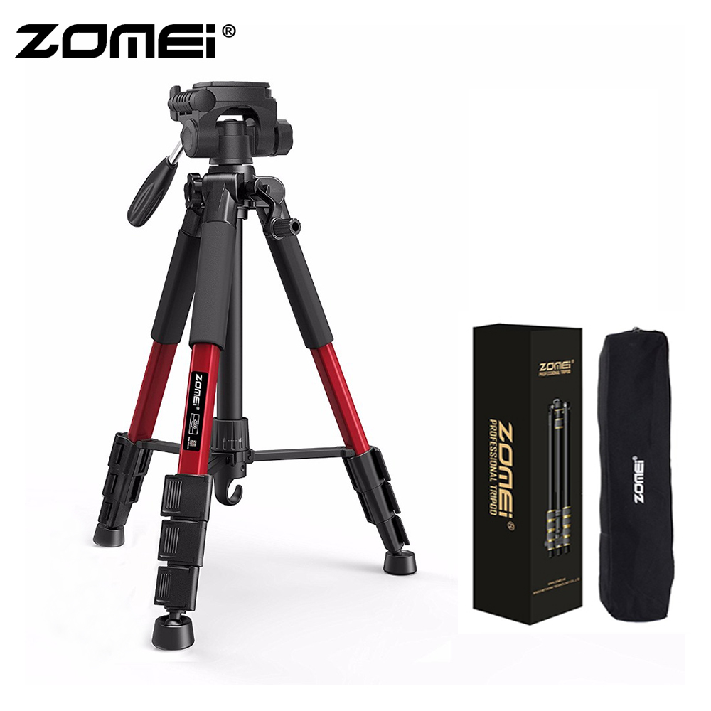 Zomei Red Z666 Lightweight Tripod Portable Travel Camera Stand with Pan Head and Carry Bag for SLR DSLR Digital Camera Phone-in Live Tripods from Consumer Electronics    1