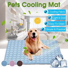 Dog Mat Cooling Summer Pad Mat For Dogs Cat Blanket Sofa Breathable Pet Dog Bed Summer