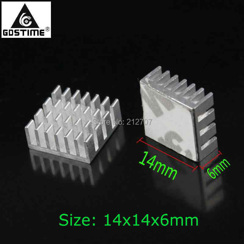 500 PCS/LOT Gdstime 14x14x6mm Cooler Radiator Chip IC MOS VGA Card Aluminum Heatsink