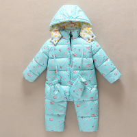 Baby Down Romper 2016 Winter Hooded Infant Romper With Glove Warm White Duck Down Toddler Boy