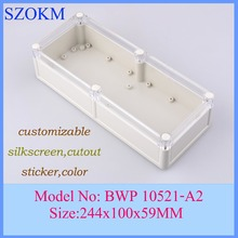 1 piece waterproof enclosures electronics project case plastic enclosure box szomk 244x100x59mm