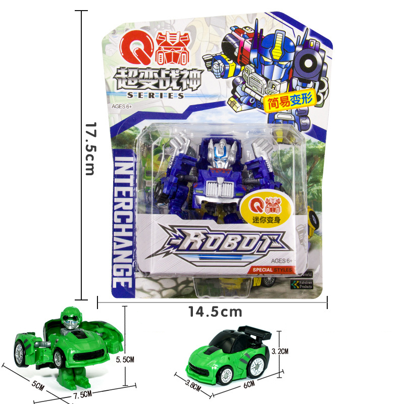 Mini Robot bil Transformation Robots Bilmodell Klassiska pojkar - Toy figuriner - Foto 3