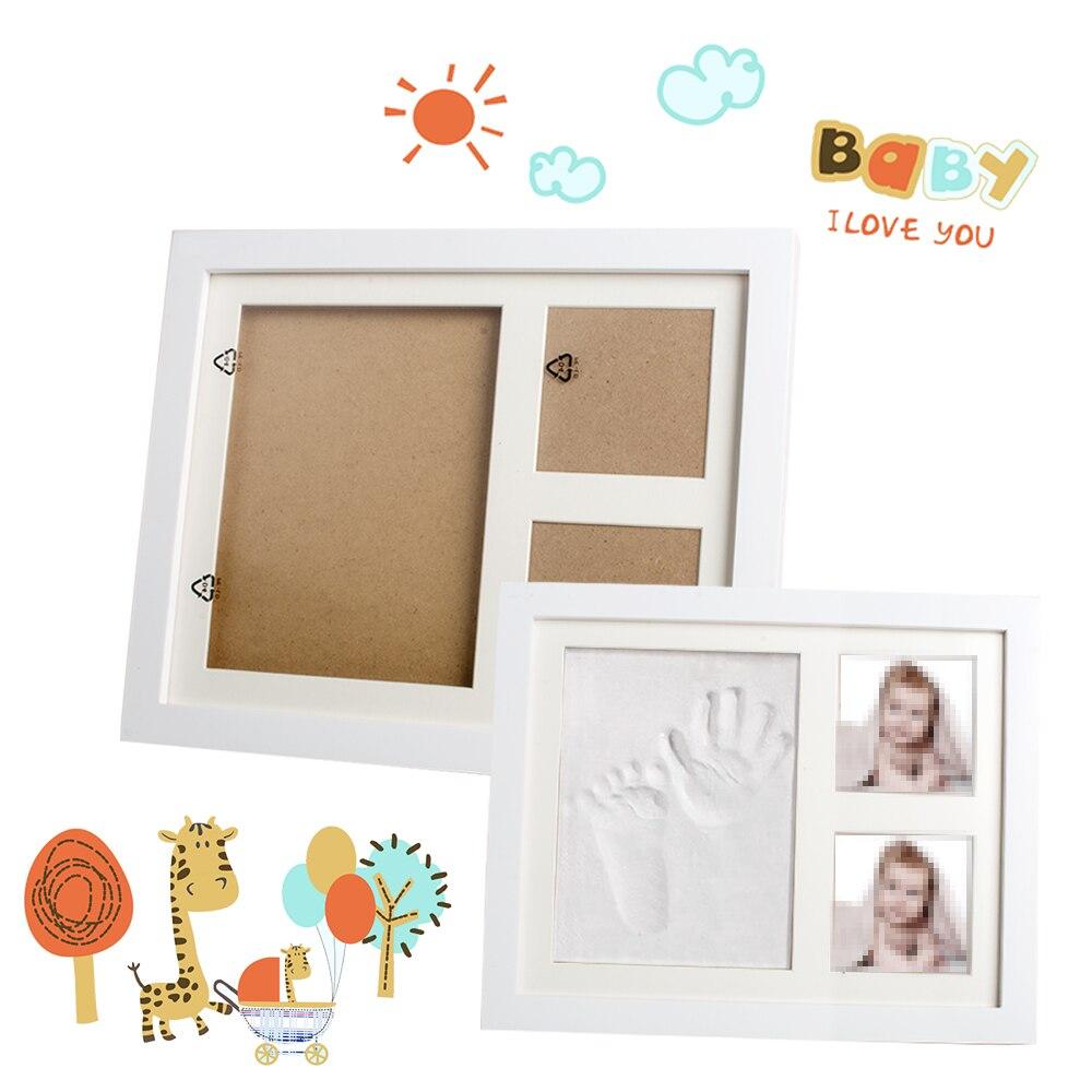 Newborn Baby Handprint and Footprint Picture Frame Kit Keepsake Box Wall Photo