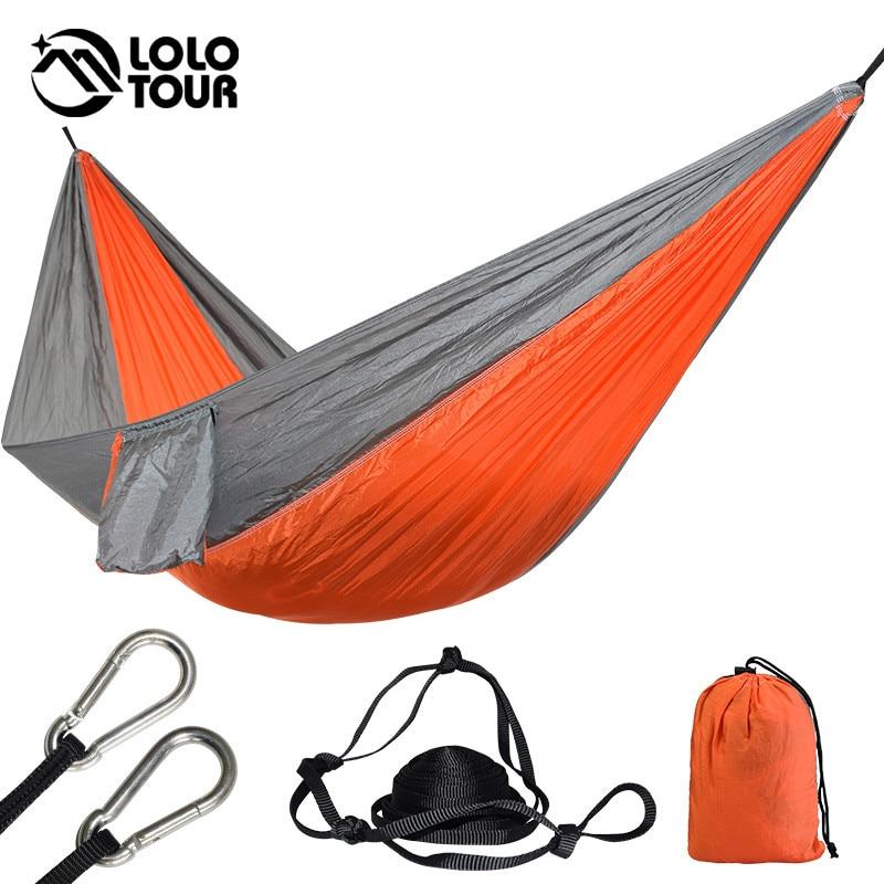 1 Person Parachute Hammock Portable Army Survival Hammocks Travel Hamaca Flyknit Hamak Nylon Hamaca Hamak Camping Hamac Rede